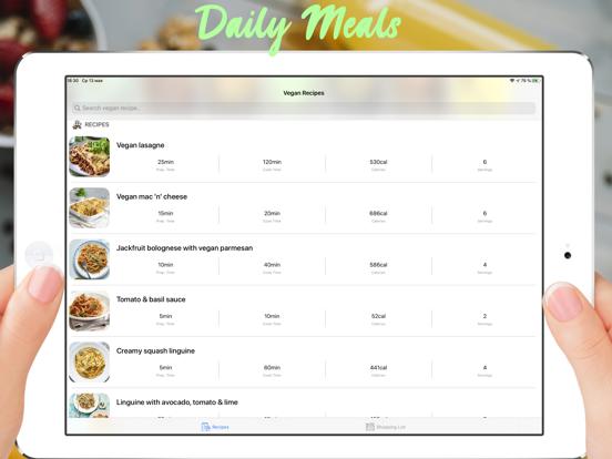 Delicious Vegan Recipes Screenshots