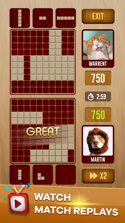 Woody Battle Block Puzzle Dual screenshot-3
