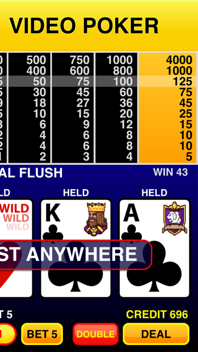 Screenshot #2 pour Video Poker Classic - 39 Games