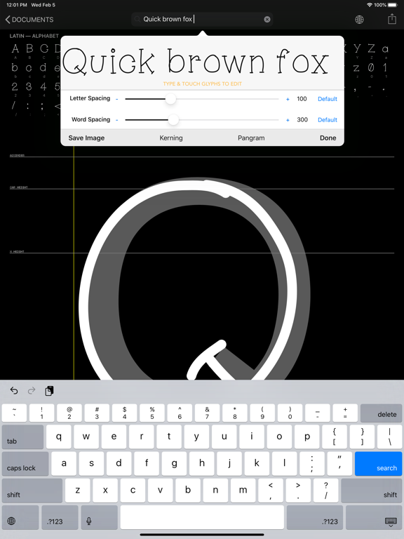 iFontMaker screenshot two