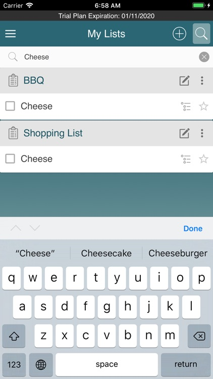 Create My List screenshot-6