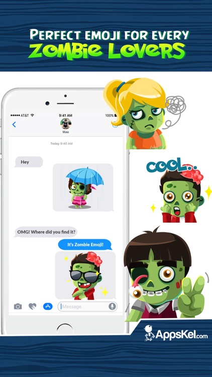 Zombies Emoji Stickers App screenshot-3
