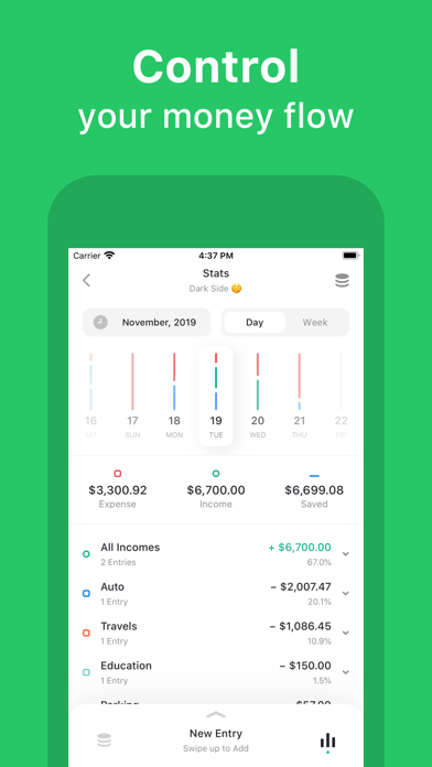 Qoin - Expenses and Incomes Screenshots