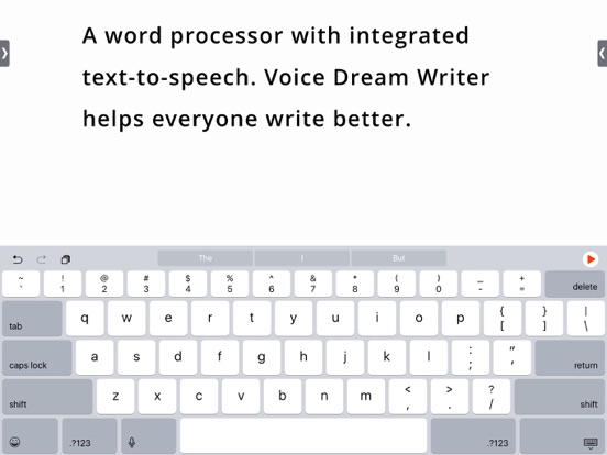 Voice Dream Writer iPad