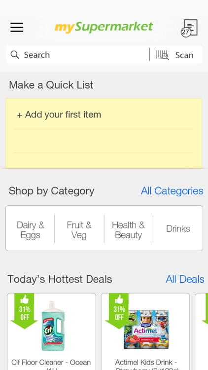 mySupermarket – Shopping List screenshot-0
