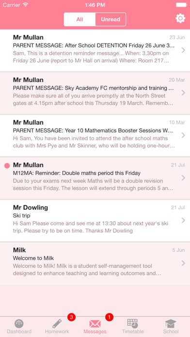 Milk Student Planner System screenshot four
