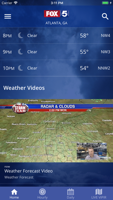 Screenshot for FOX 5 Storm Team Weather Radar in United States App Store