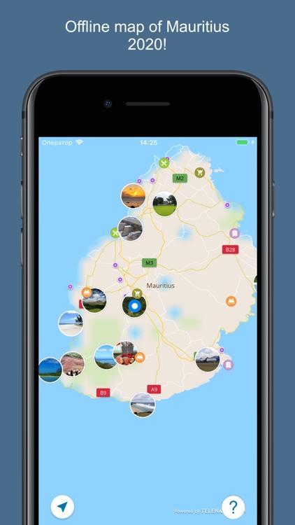 Mauritius 2020 — offline map
