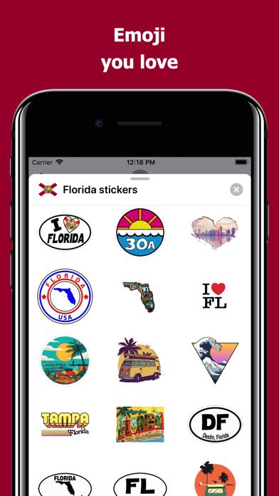 Florida emojis - USA stickers screenshot 2