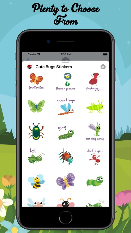 Cute Bugs Stickers screenshot-4