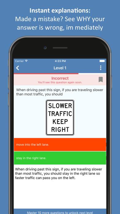 DMV Permit Practice Test 2019 Screenshot