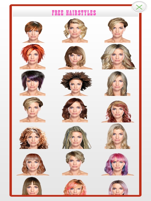 Screenshot  For Hairstyles For Your Face Shape