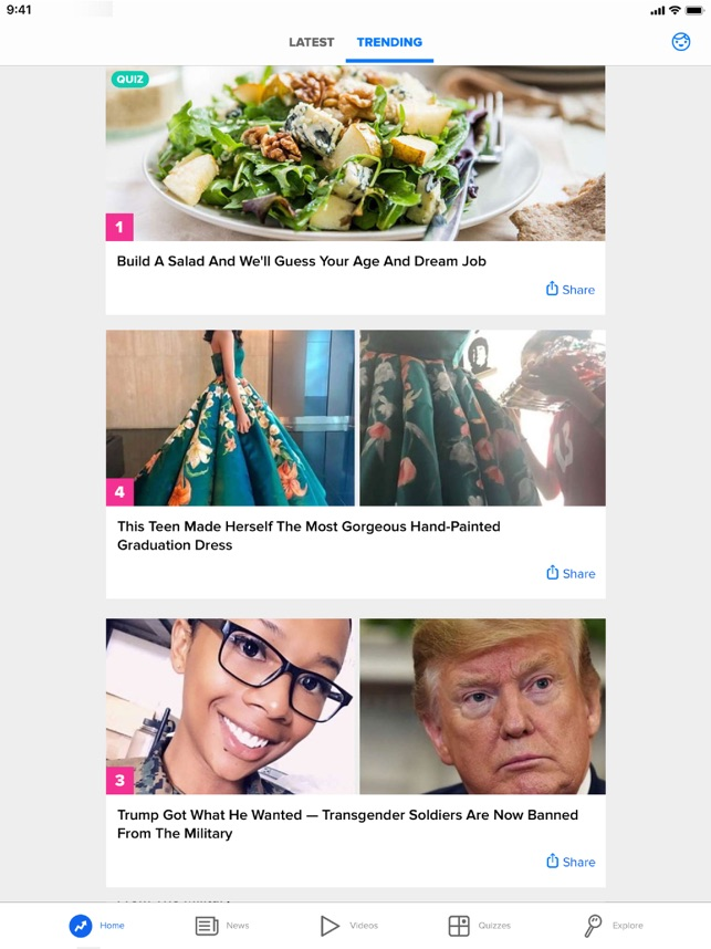 BuzzFeed on the App Store