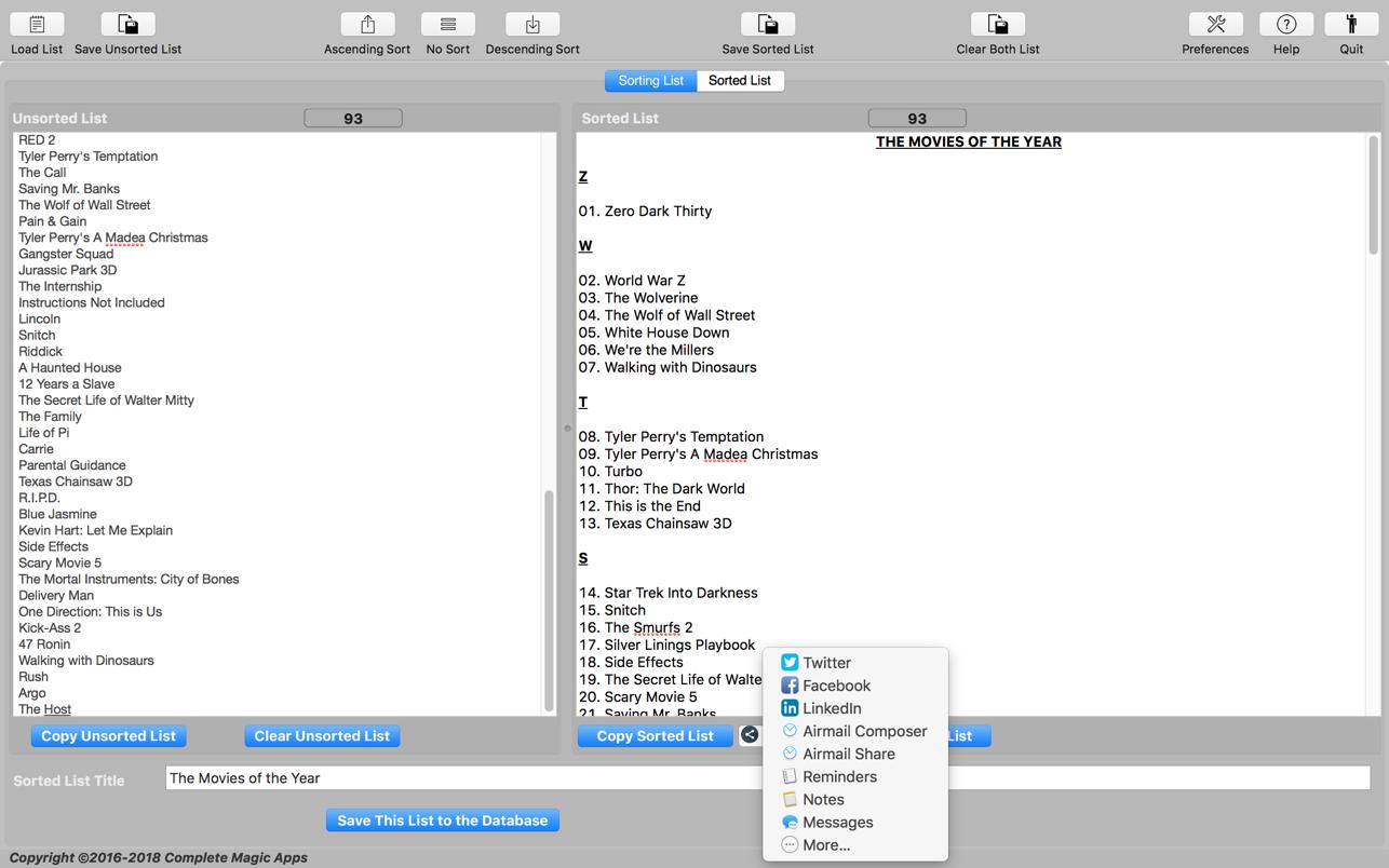 Magic Sort List 3.3.0 Mac 破解版 魔术排序软件