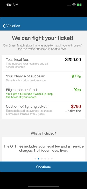 Speeding Ticket App >> Off The Record Ticket Lawyer On The App Store