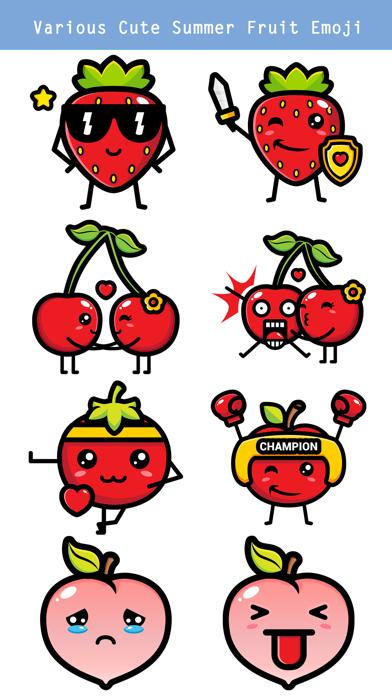 174 Cute Emoji - Summer Fruits screenshot 2