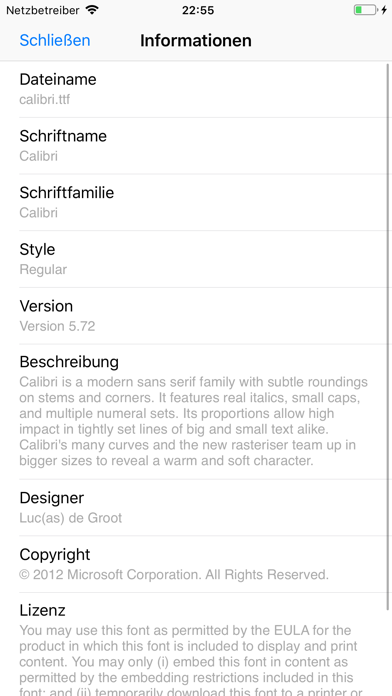 Screenshot for AnyFont in Germany App Store