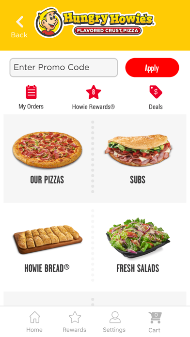 Hungry Howies Pizza screenshot