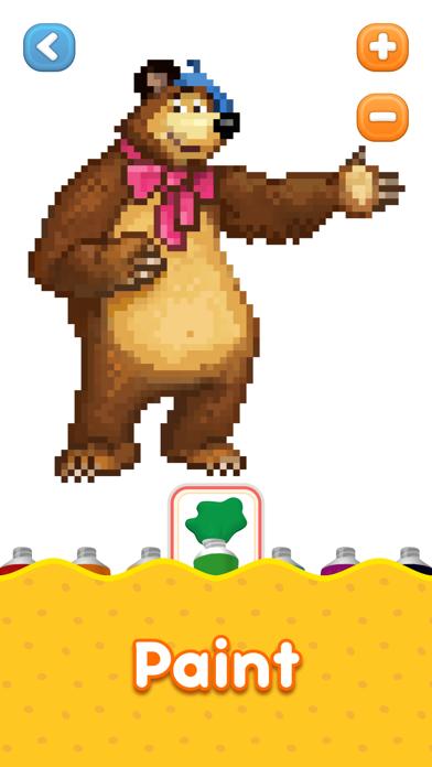 Screen Shot Masha and the Bear: coloring 2