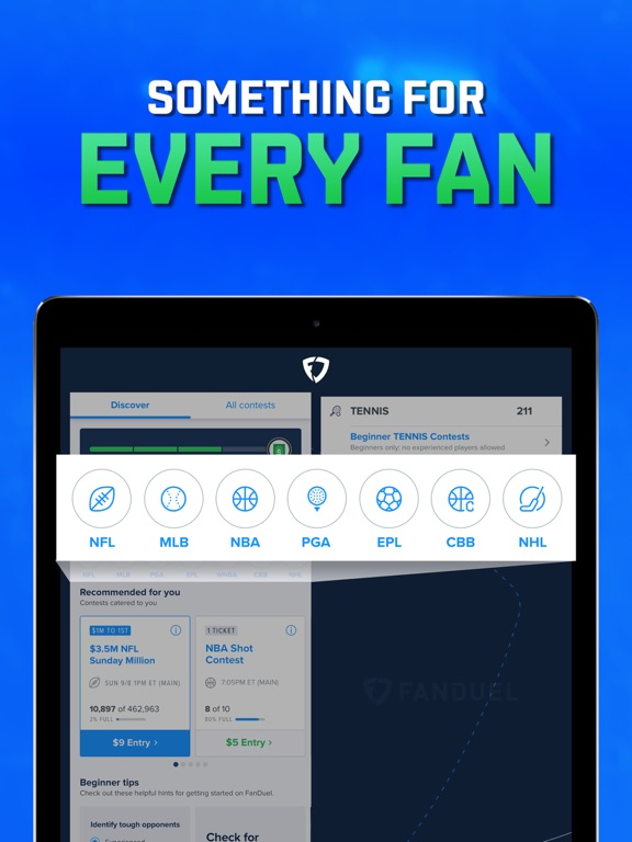 FanDuel: One Day Fantasy Sports Leagues screenshot