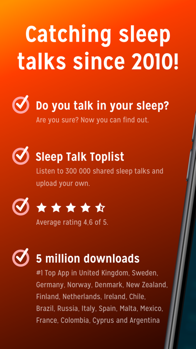 Sleep Talk Recorder review screenshots
