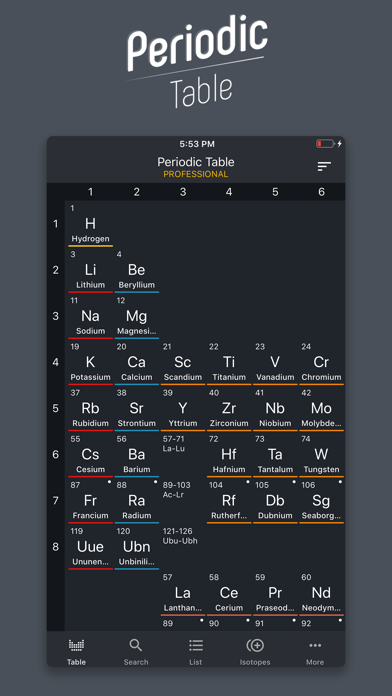 Screenshot for Periodic Table 2020 PRO in United States App Store