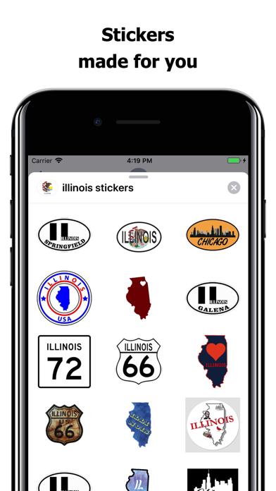 Illinois emojis - USA stickers screenshot 1
