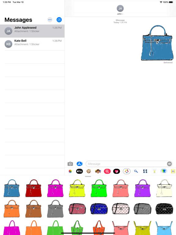 purses stickers screenshot 2