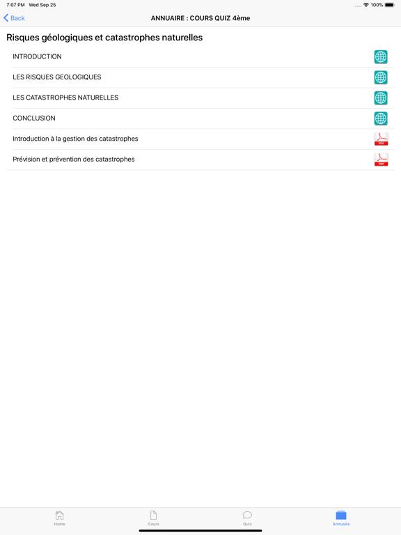 COURS QUIZ 4ème screenshot 20