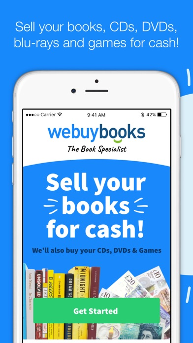 WeBuyBooks screenshot one