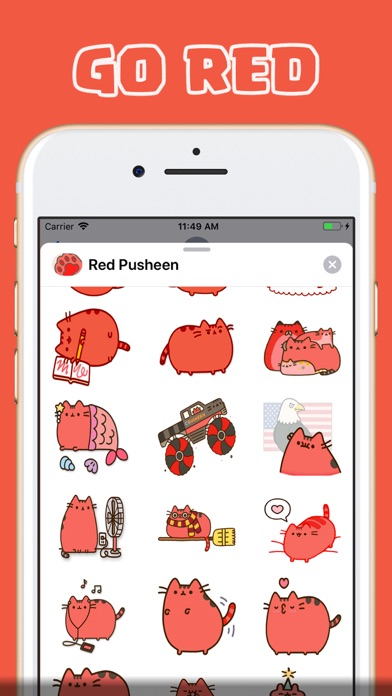 Screenshot for Red Pu Stickers in Finland App Store