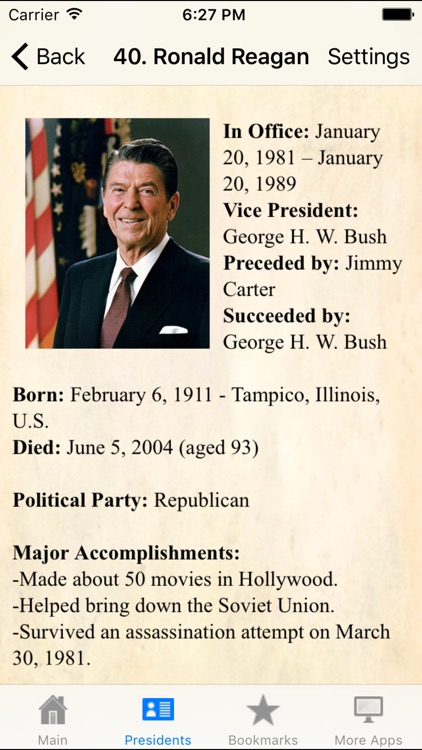 U.S.A. Presidents Pocket Ref. screenshot-4