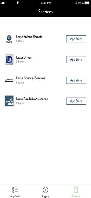 Lexus Enform App Suite 2 0 on the App Store