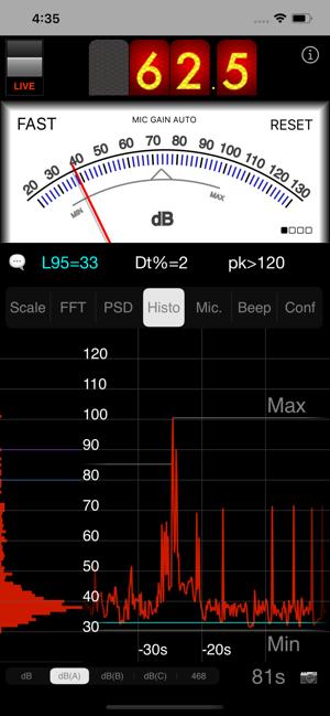 SPLnFFT Noise Meter Screenshot