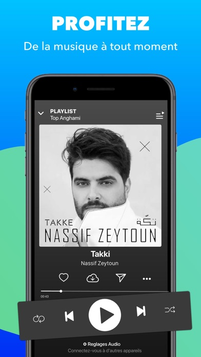 Screenshot for Anghami - Musique gratuite in Lebanon App Store