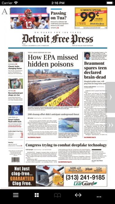 Detroit Free Press Print Screenshot
