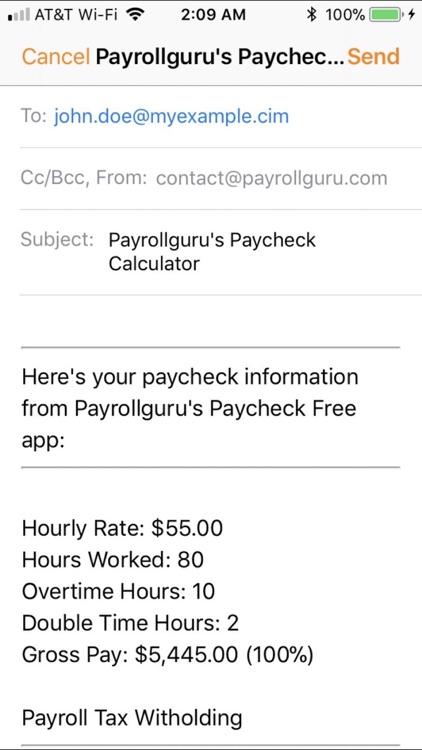 Paycheck Lite : Mobile Payroll screenshot-3