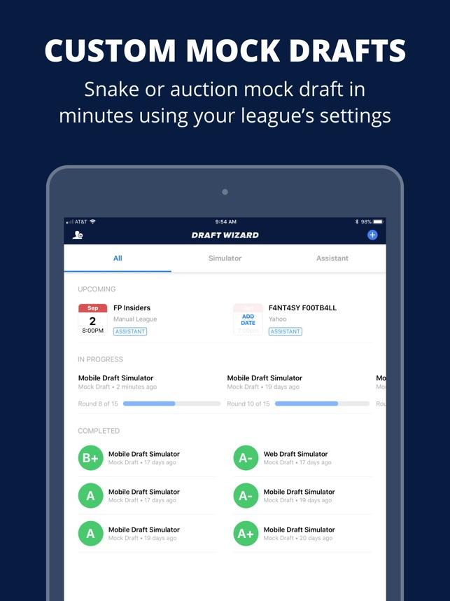 Fantasy Football Draft Wizard on the App Store