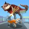 恐龙大作战-驾驶赛车的射击霸王龙游戏