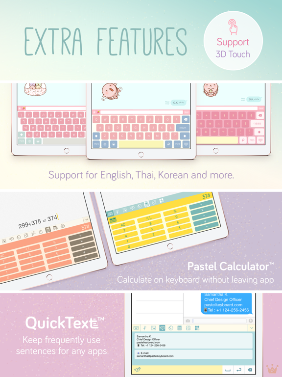 Pastel Keyboard Themes Color Screenshots