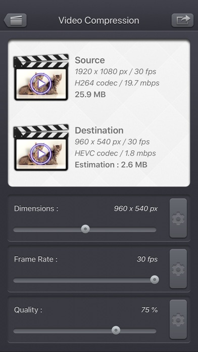 Video Compressor - HD screenshot 1