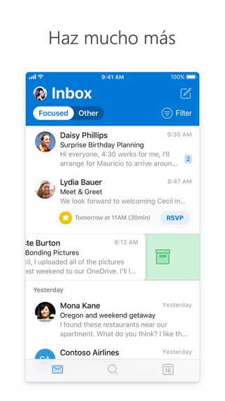 Screenshot for Microsoft Outlook in Mexico App Store