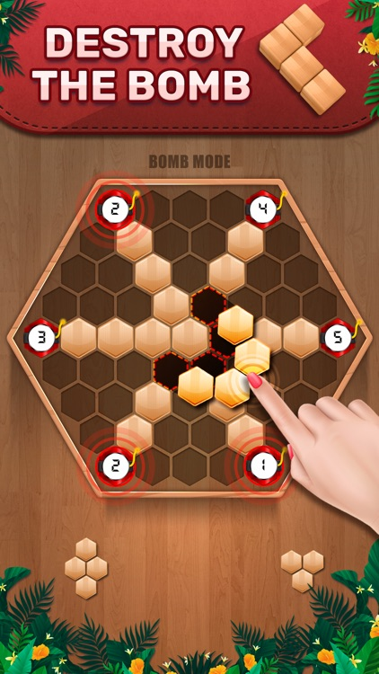 Wooden 100 Block - Hexa Puzzle screenshot-2