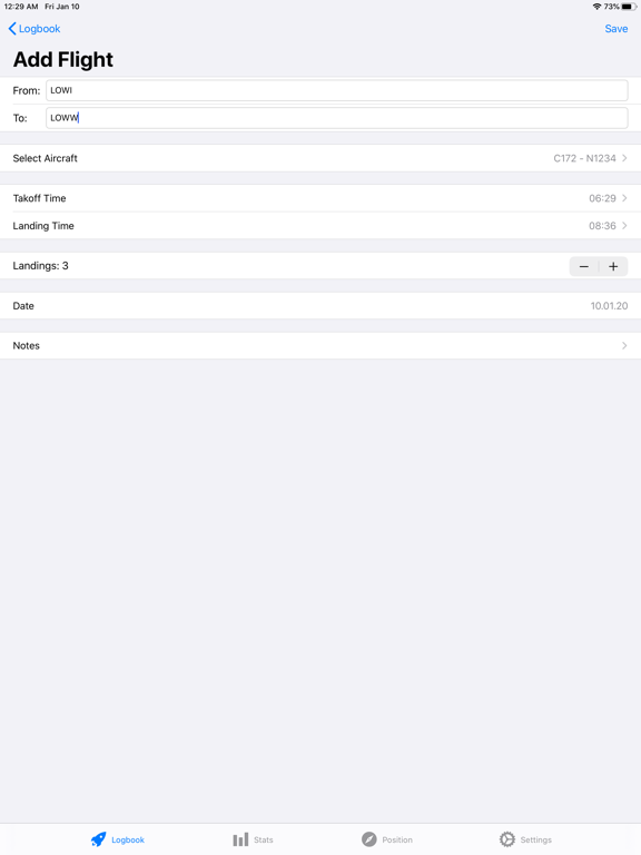 Screenshot #5 pour SkyPilot 2 - Pilot Logbook