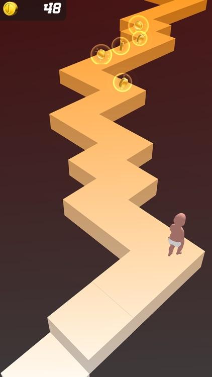 Baby Zigzag Run 3d screenshot-7