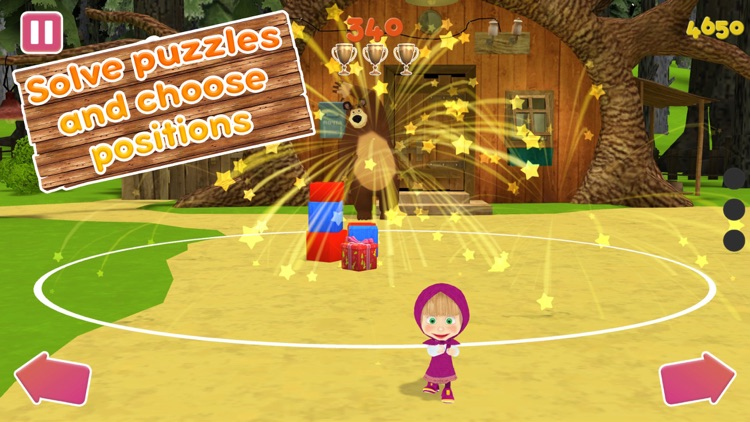 Masha and the Bear:Ball game3D screenshot-3