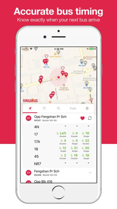 Screenshot #1 pour Singabus - Bus Timing + MRT