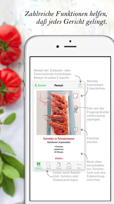 Screenshot for Italienisch Kochen HQ in Austria App Store
