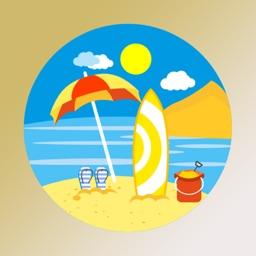 Outdoor round sticker