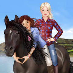 Horse and rider dressing fun
